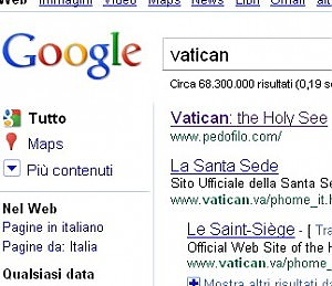 vaticano google pedofili