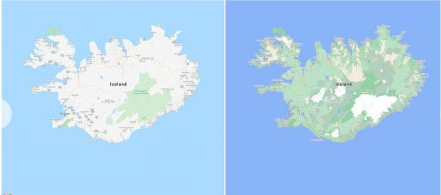 google maps islanda