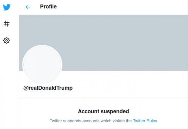 trump twitter suspended