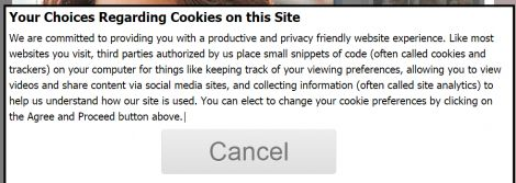 cookie message