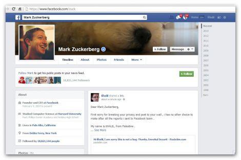 bug facebook zuckerberg violato