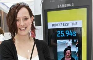 Melissa Thompson Samsung Galaxy S SMS Swype