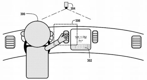 google car gesture patent