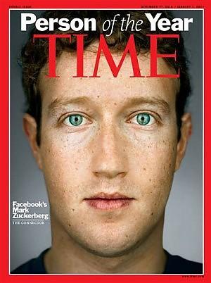 Mark Zuckerberg uomo dell'anno 2010 Time