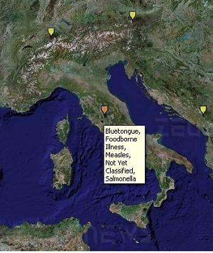 Una mappa online per monitorare le malattie