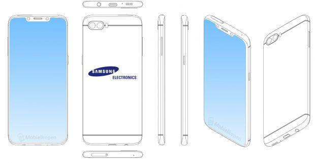 samsung brevetto rientranza schermo iphonex
