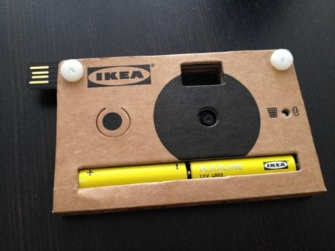 fotocamera cartone ikea