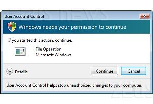 Windows 7 UAC User Account Control