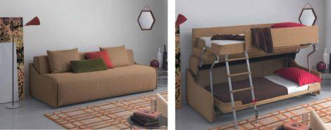 Il divano che si trasforma in letto a castello notizie tecnologiche dal mondo - Divano ecopelle che si spella ...