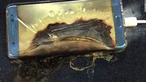samsung burnt smartphone