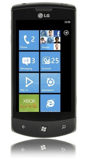 Windows Phone 7 LG Optimus Steve Ballmer tiles