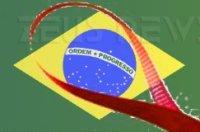 Bandiera brasiliana personalizzata