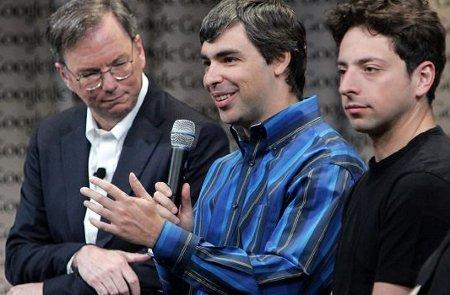 Larry Page CEO Google Eric Schmidt