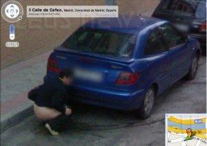 Donna Madrid urina Google Street View