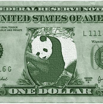 Pandollar, il simbolo del WWF all'interno del doll