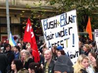 Manifestazione contro la guerra in Iraq. Foto di N