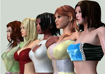 ragazze virtuali