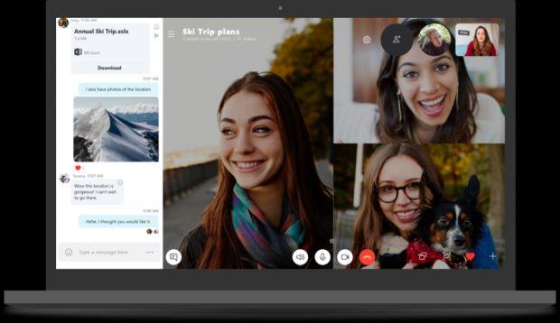 Skype versione 8