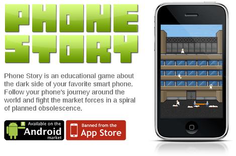 Phone Story Molleindustria App Store iPhone Apple