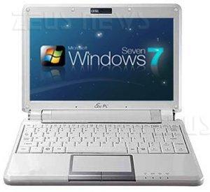 Netbook Microsoft Windows 7 qualsiasi versione