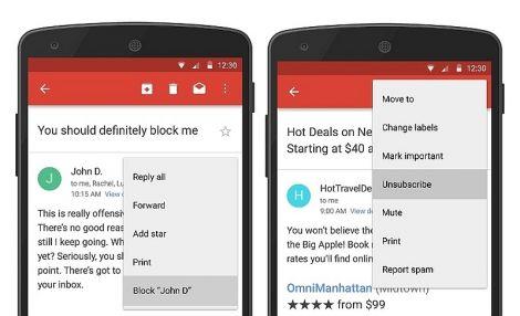 gmail block unsubscribe