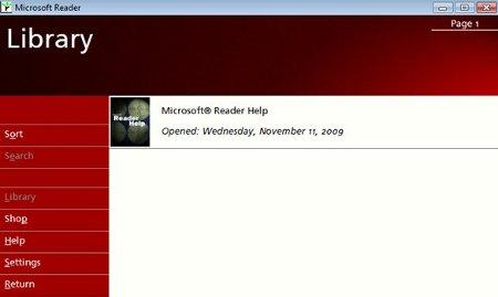 Microsoft Reader e-book formato lit