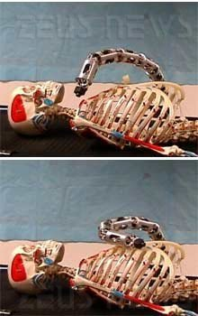 Robot serpente infermiere-soldato Howie Choset
