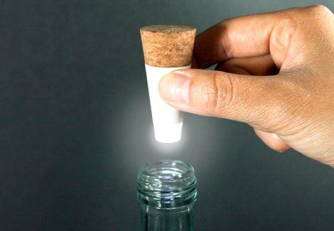 bottle light led cork