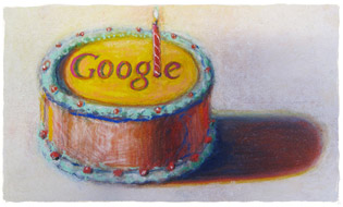 Google compie 12 anni (immagine di Wayne Thiebaud)