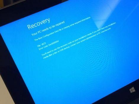 windows81 schermo blu