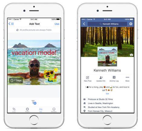 facebook video profilo temporaneo