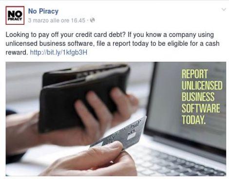 bsa ricompensa pirateria