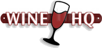 Il logo di winehq