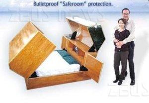 Il letto antiproiettile (con wc incorporato)