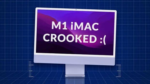 imac crooked