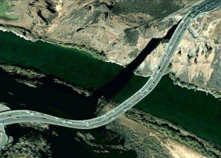 Clement Valla cartoline Google Earth ponti