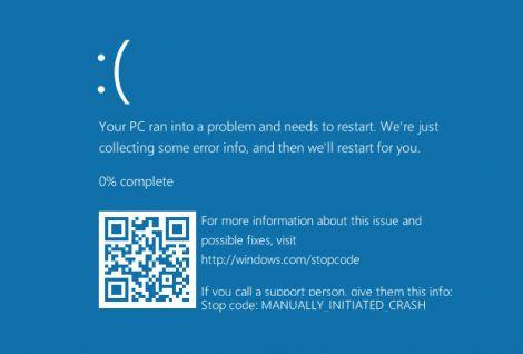 windows 10 qr code bsod