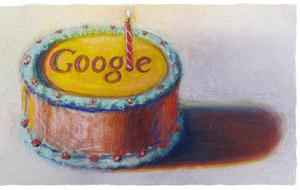 Google dodicesimo compleanno torta Wayne Thiebaud