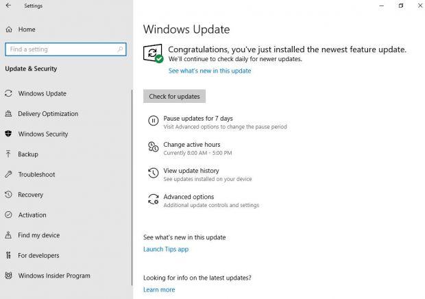 windows 10 home pausa aggiornamenti