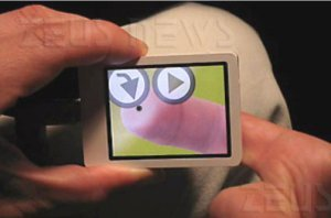 Microsoft NanoTouch touchscreen trasparente retro