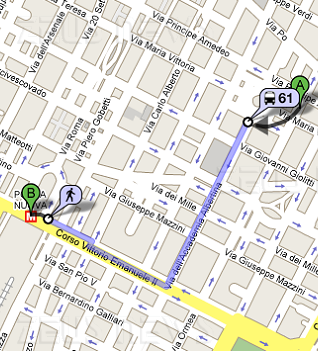 Google Transit per i mezzi pubblici