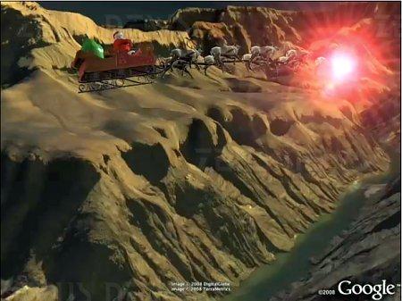 Norad segue Babbo Natale tracks Santa Google Earth