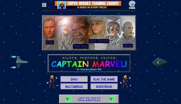 captain marvel sito anni 90