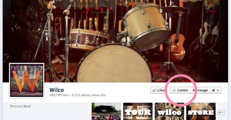 facebook pulsante listen