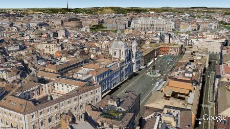 Google Earth Roma odierna 3D