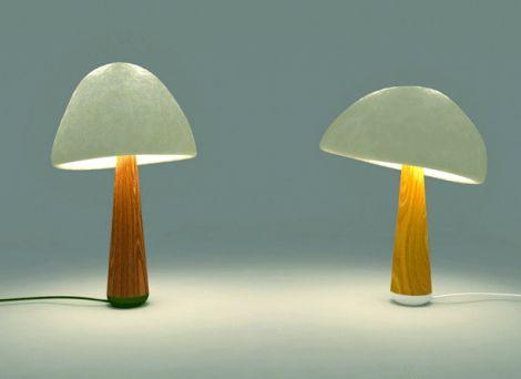 mush lume danielle trofe lampada fungo