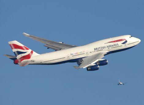 british airways aereo spazzatura