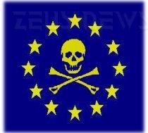 Simbolo dei pirati su bandiera UE