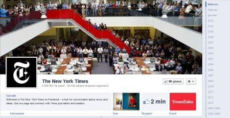 facebook timeline aziende