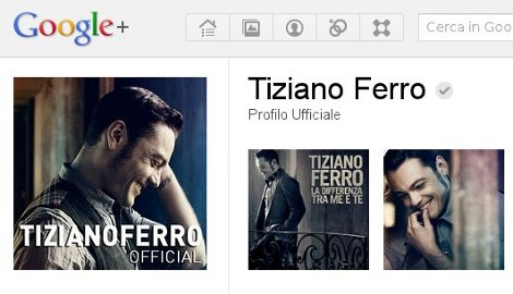 tiziano ferro google plus